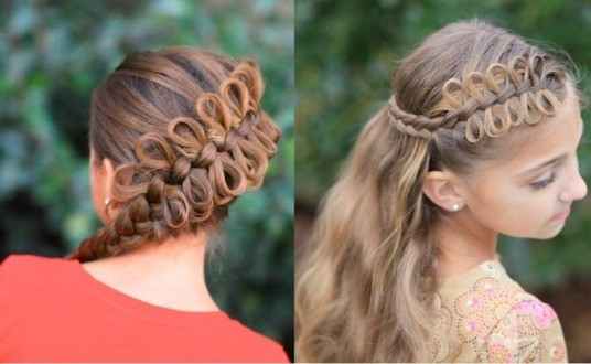 Бантики из волос