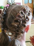 Коса с бантиками из волос 3