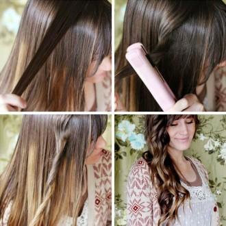 Кудри утюжком на длинные волосы