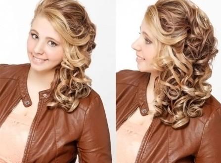 Локоны на средние волосы