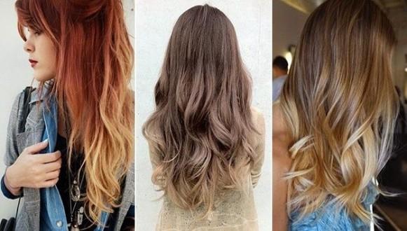 Омбре на длинные светлые волосы