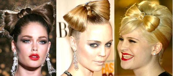 бант из волос у знаменитостей