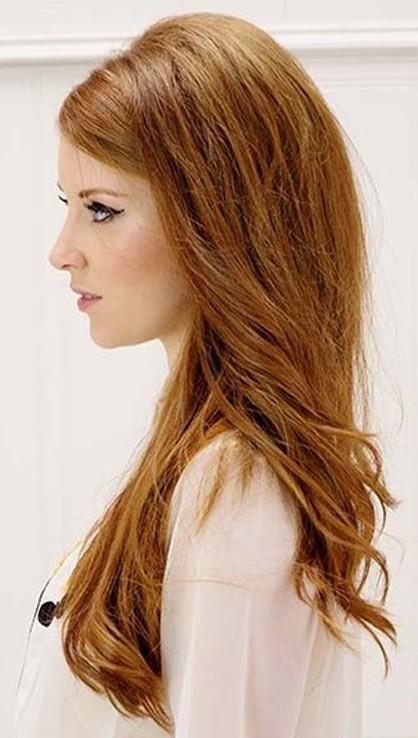 Прическа с начесом на длинные распущенные волосы