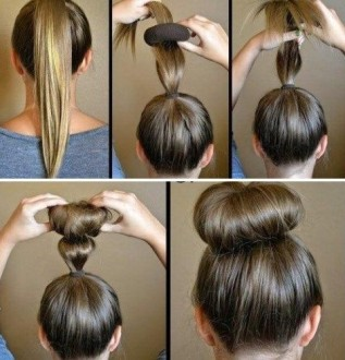 Пучок для волос с бубликом