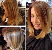 градуированное каре для длинных волос