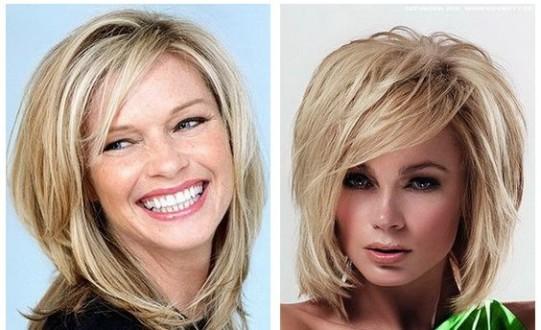 средние волосы с клсой челккой