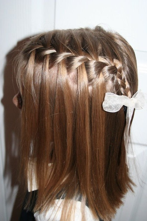 детская коса-водопад