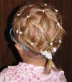 хвостики на короткие волосы с резинками