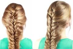 свободная коса-колосок на длинные волосы