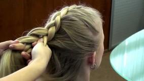 обратная французская коса на длинные волосы