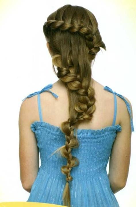 коса-змейка