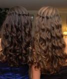 коса-водопад на длинные волосы с локонами