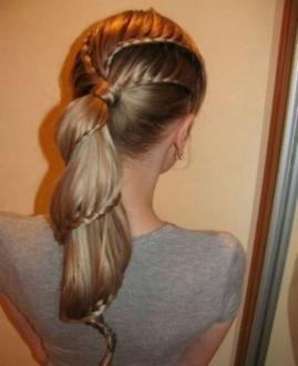 Лесенка из волос