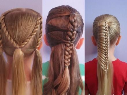 косы для девочек в школу