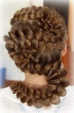 обратная французская коса-змейка