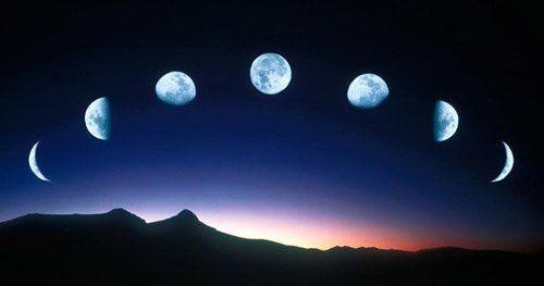 Разные фазы Луны, фото