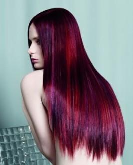 Покраска длинных волос