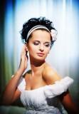 романтическая свадебная прическа для коротких волос в греческом стиле
