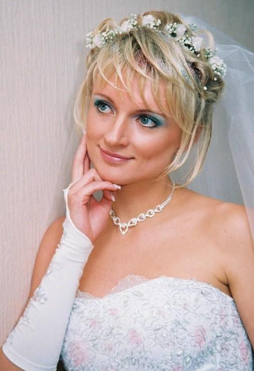небрежная свадебная прическа для коротких волос
