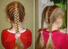 колосок и дракончик - прически для девочек