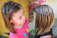 Прическа на средние волосы 2