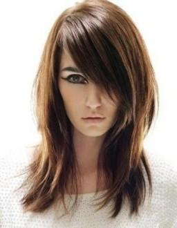каскад средние волосы