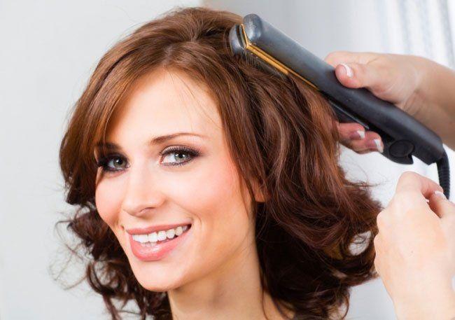 укладка локонов на средние волосы