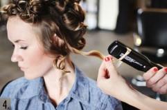 как завить утюжком средние волосы